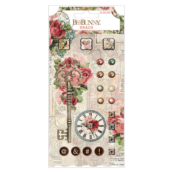 BoBunny - Embellishments - Family Heirlooms - Brads (21 pieces)