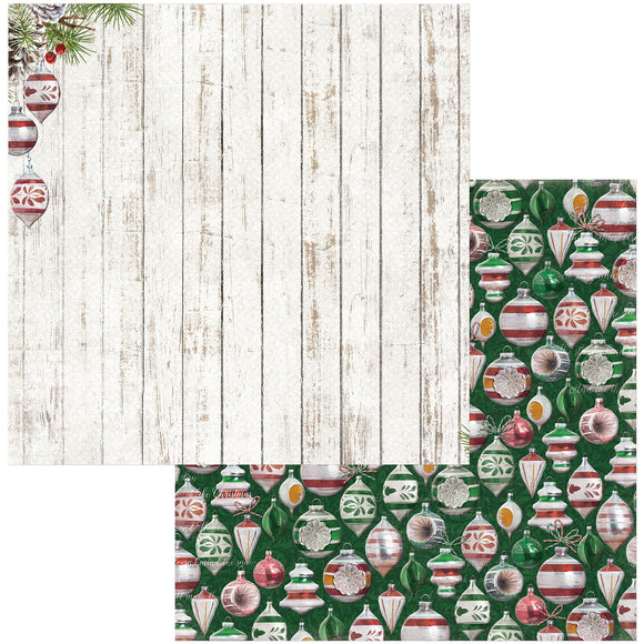 BoBunny - Joyful Christmas Patterned Paper  - 12 X 12 - Ornaments