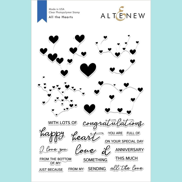 Altenew - All the Hearts Stamp and Die
