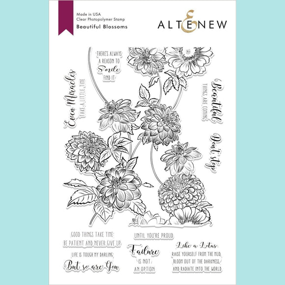 Altenew  - Beautiful Blossoms Stamp Set