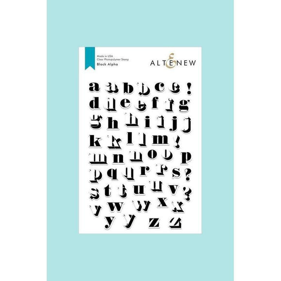 Altenew - Block Alpha Stamp Set