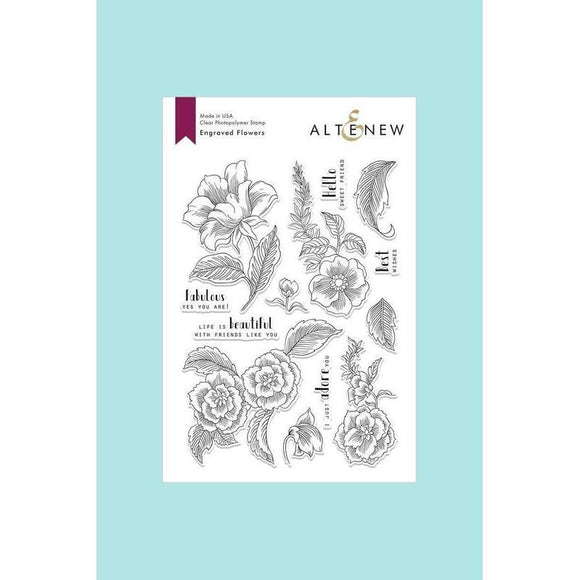 Altenew - Engraved Flowers Stamp and Die