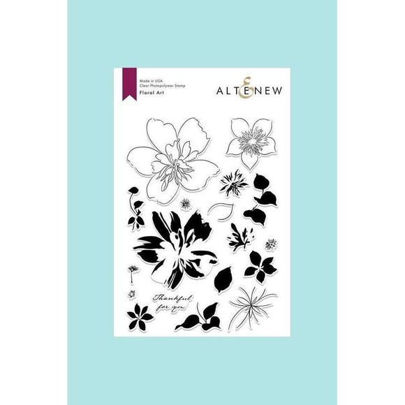Altenew - Floral Art Stamp and Die