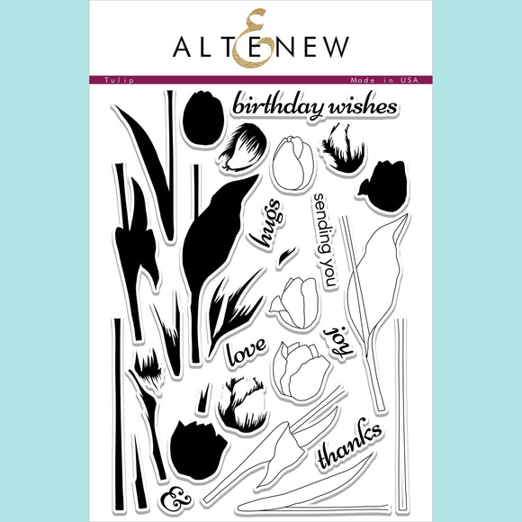 Altenew Tulip Stamp and Die Sets