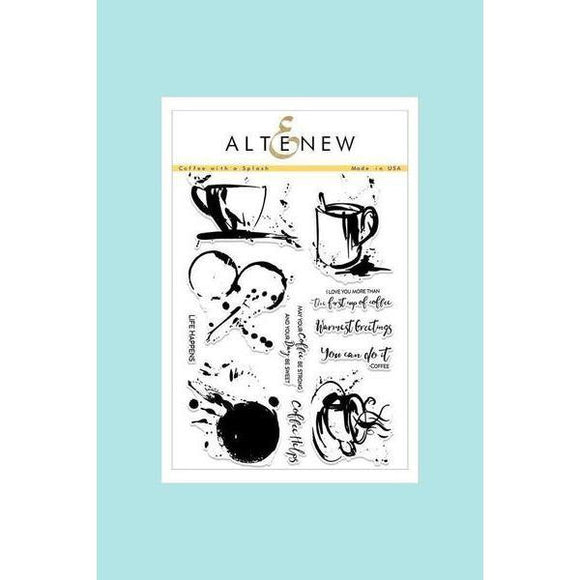 Altenew Coffee with a Splash Stamp Set