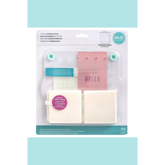 We R Memory Keepers  WRMK - Precision Press Advanced - Typeset Stamping Block (339 piece)