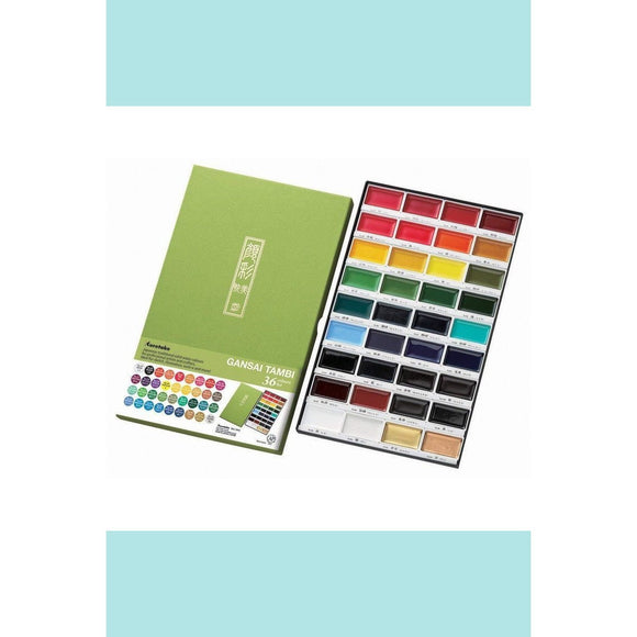 Kuretake Gansai Tambi - Watercolor Palette - 36 colours