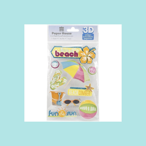 Paper House  3D stickers - Life's A Beach