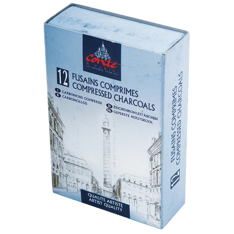 Conte à Paris - Compressed Charcoal - Pack of 12