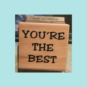 Powder Blue Jemac Rubber Stamps - You're the Best - Wood Mounted Stamp
