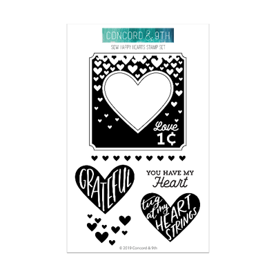 Concord & 9th - Sew Happy Hearts Stamp and Die