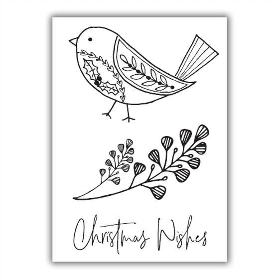 Julie Hickey - Little Robin Stamp Set