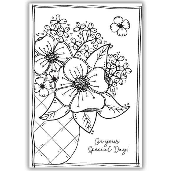 Julie Hickey - Flowers for Jean Stamp Set