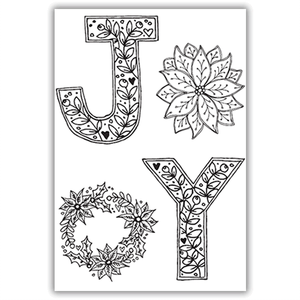Julie Hickey - Festive Joy Stamp Set