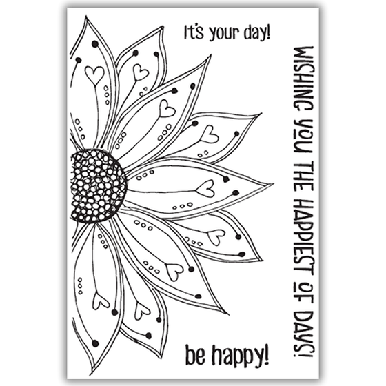 Julie Hickey - Be Happy Stamp Set