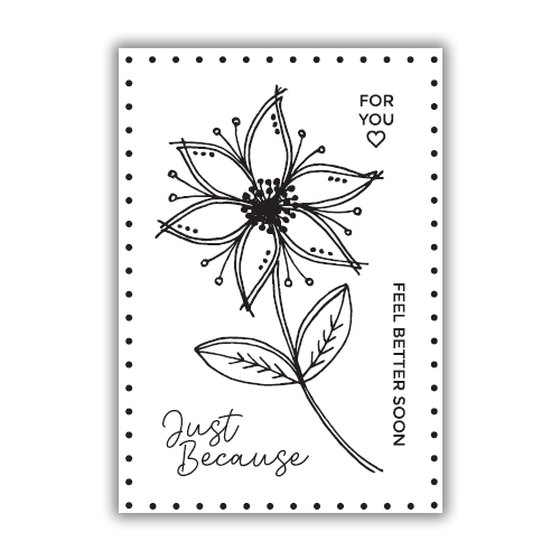 Julie Hickey - Just Because Stamp Set