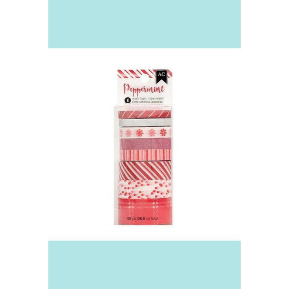 American Crafts - Washi tape Christmas Peppermint red