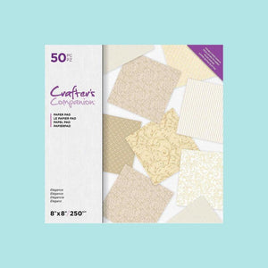 "Crafter's Companion - 8"" x 8"" Double Sided Paper Pad - Elegance"