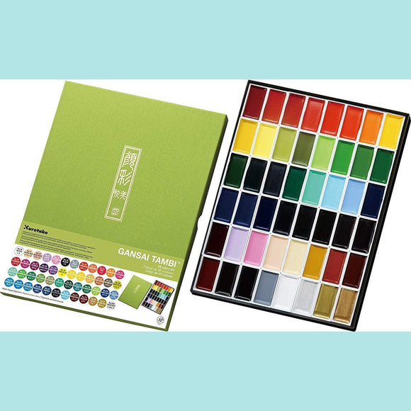 Kuretake Gansai Tambi - Watercolor Palette - 48 colours