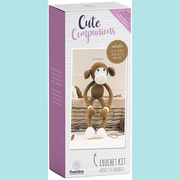 Crafters Companion - Threaders Cute Companions Crochet Kit - Monty the Monkey
