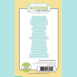 Taylored Expressions - Simple Strips Backer Dies