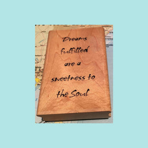 Paper Inspirations Wood Mounted Stamp - Dreams Fulfilled