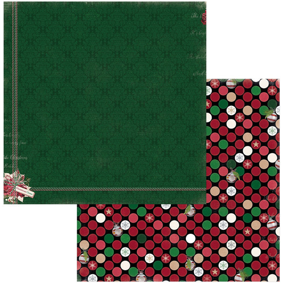 BoBunny - Joyful Christmas Patterned Paper  - 12 X 12 - Cheer