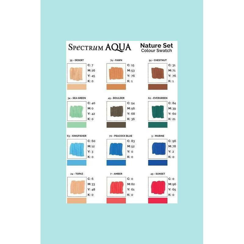 Spectrum Noir Aqua Markers 12 Pack - Nature