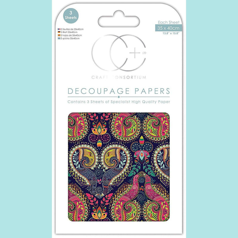 Craft Consortium - Eastern Promise - Decoupage Paper Set