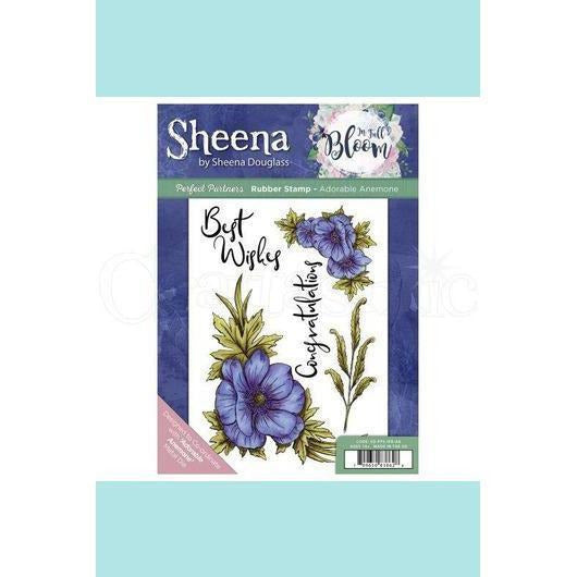Sheena Douglass Perfect Partner In Full Bloom Stamp &  Dies - Adorable Anemone