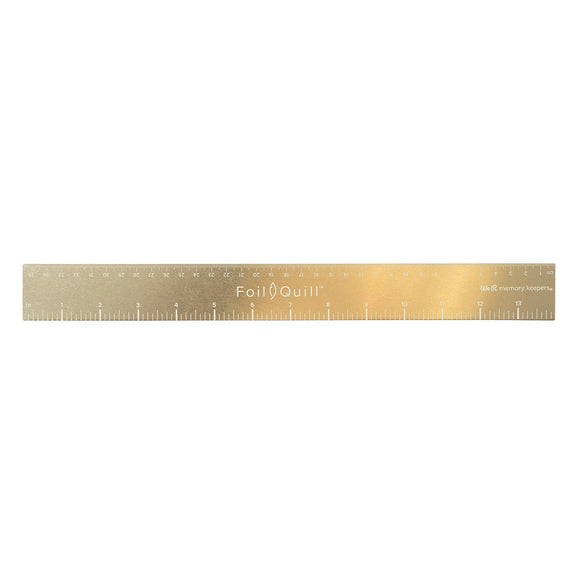 American Crafts - We R Memory Keepers - Foil Quill - Magnetic Ruler Gold 14 inch