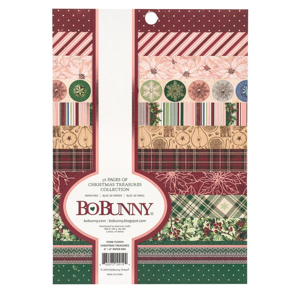BoBunny Christmas Treasures Pad 6 X 8