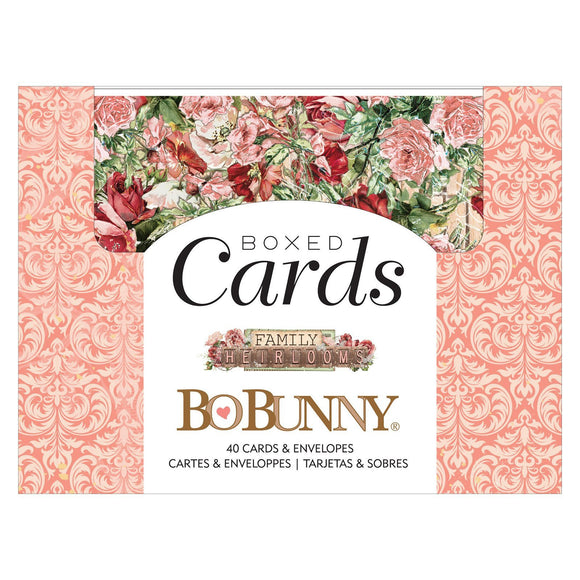 BoBunny - Family Heirlooms - Box of Cards (40 cards and 40 envelopes)