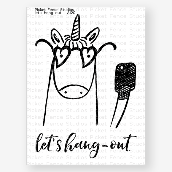 Picket Fence Studios - Let's Hang Out Stamp and Die