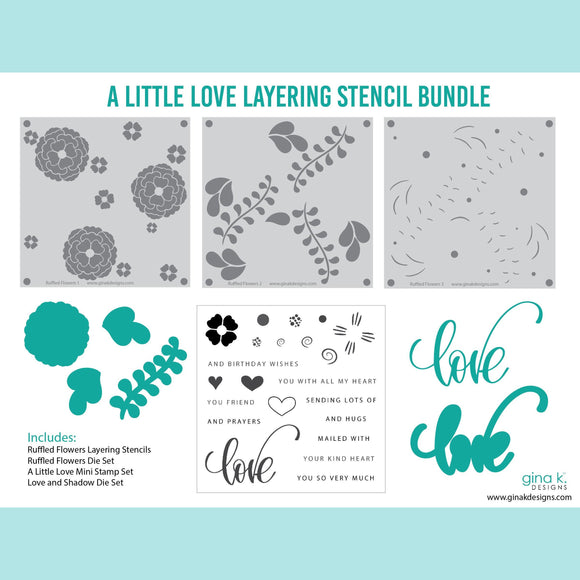 Gina K Designs - A Little Love Layering Stencil