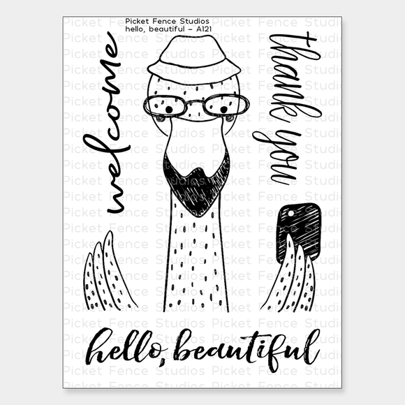 Picket Fence Studios - Hello, Beautiful Stamp Set