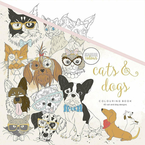 KaiserCraft - Kaisercolour Cats & Dogs Colouring Book