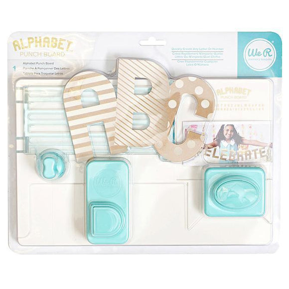 We R Memory Keepers - WRMK - Tool Alphabet Punch Board