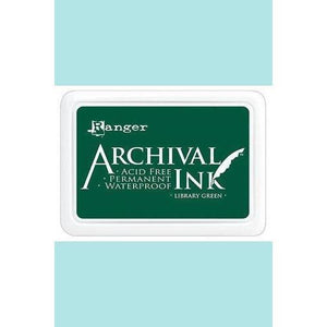 Ranger - Archival Ink Pads & Re-Inkers LIBRARY GREEN