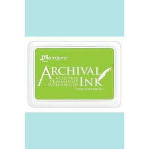 Ranger - Archival Ink Pads & Re-Inkers VIVID CHARTREUSE