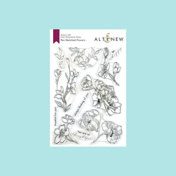 Altenew - Pen Sketched Flowers  - Stamp and Die