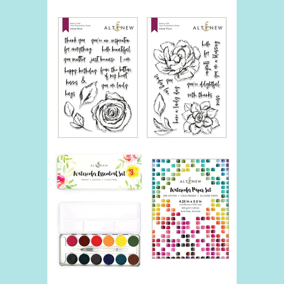 Altenew - All the Colors Watercolor and Stamp Bundle