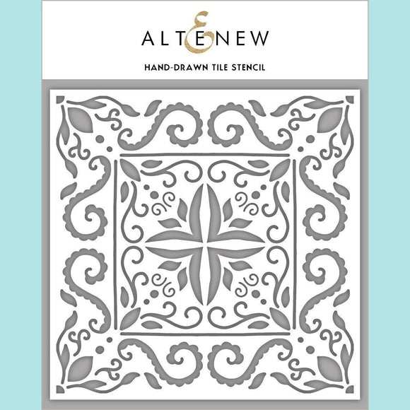 Altenew - Hand-Drawn Tile Stencil