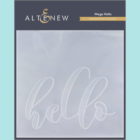 Altenew - Mega Hello Debossing Folder