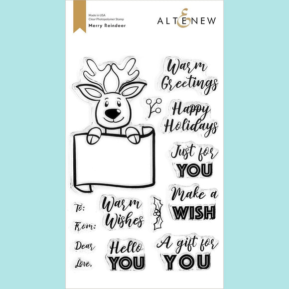 Altenew - Merry Reindeer Stamp Set