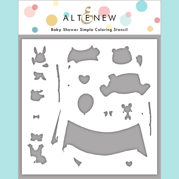 Altenew - Baby Shower Simple Coloring Stencil