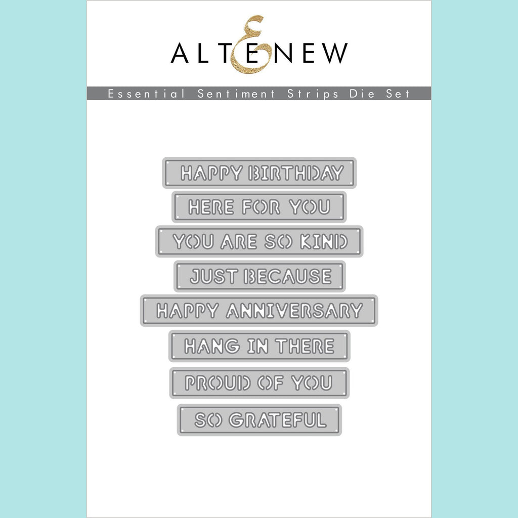 Altenew  - Essential Sentiment Strips Die Set