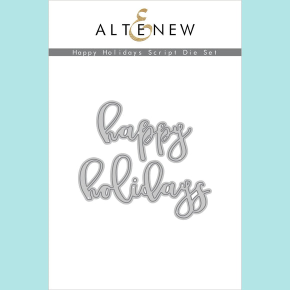 Altenew - Happy Holidays Script Die Set