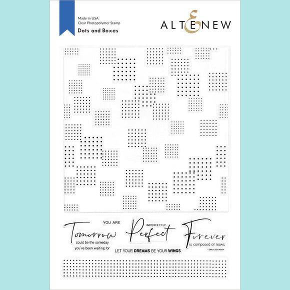 Altenew - Dots and Boxes Stamp Set