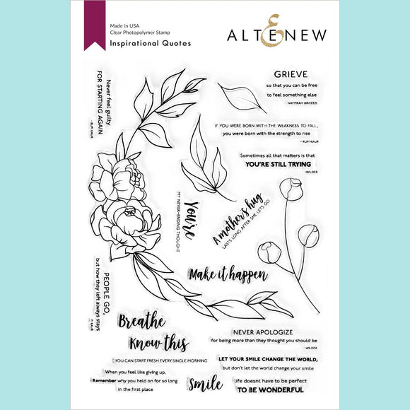Altenew - Inspirational Quotes Stamp Set